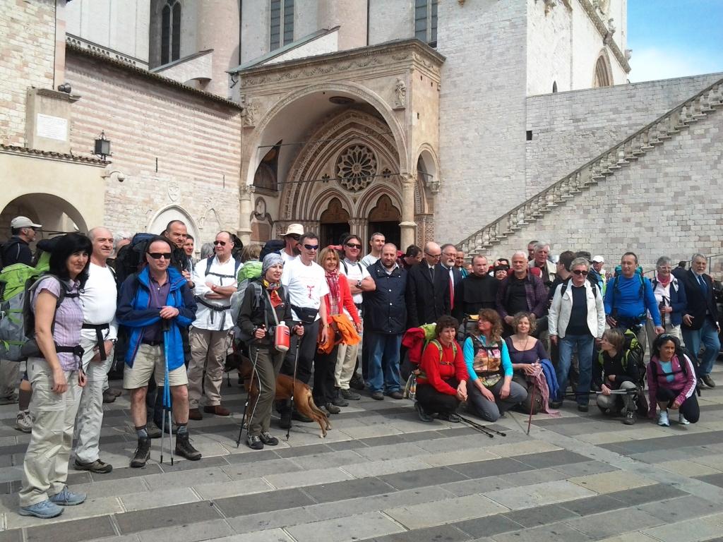 Partenza da Assisi Cammino Francescano della Marca