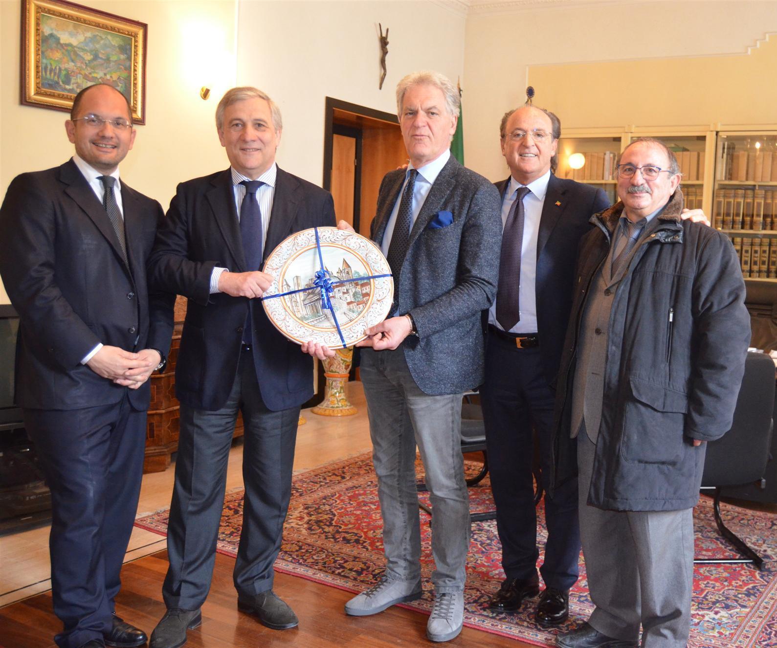 Incontro Presidente Celani - Comm. Europeo Tajani