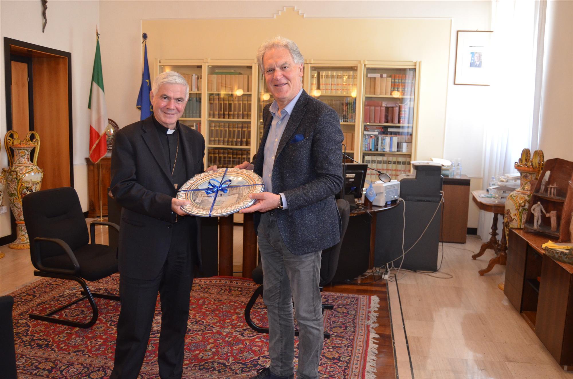 Incontro Pres. Celani Vescovo D\'Ercole