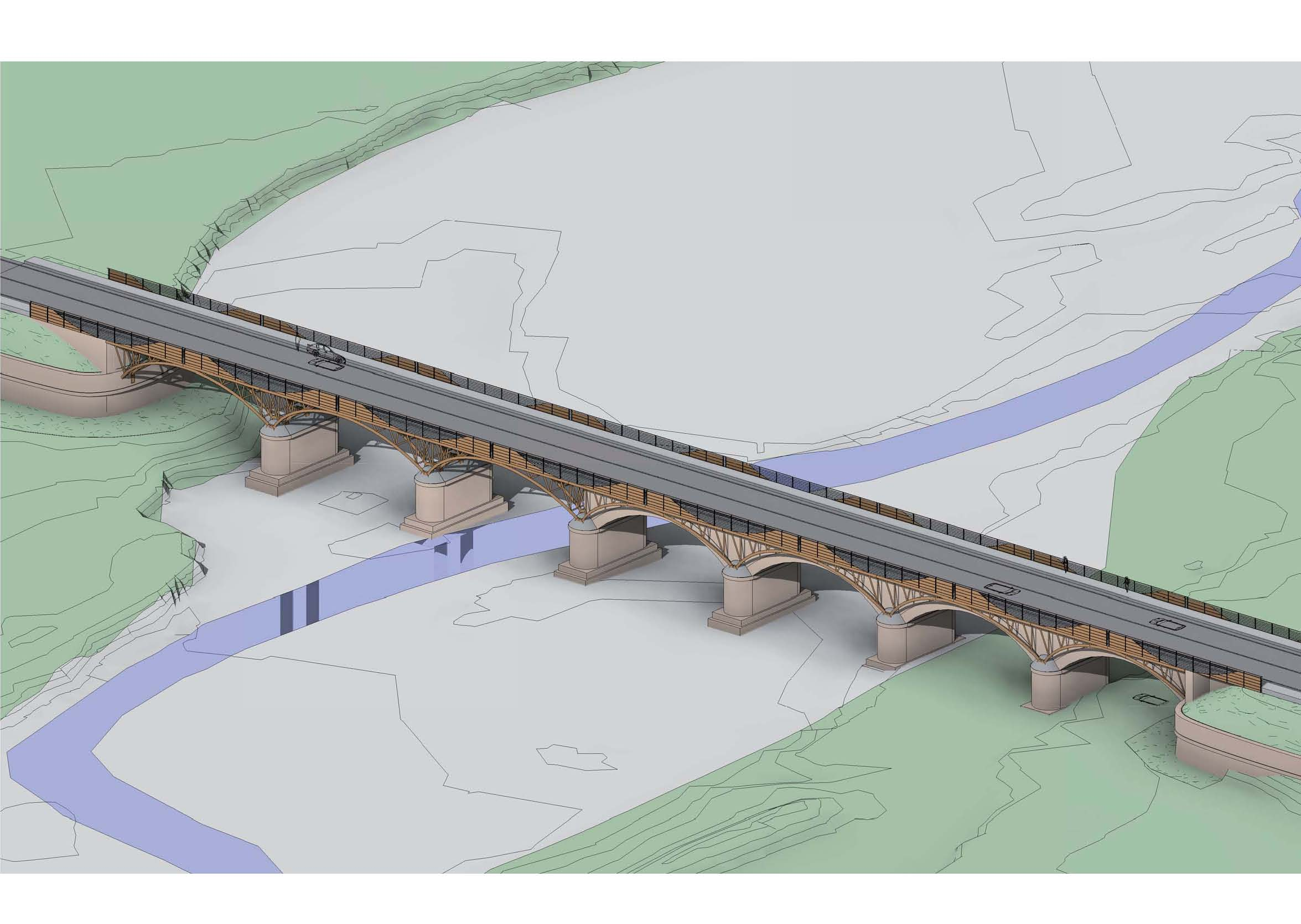 Ponte di Rubbianello in 3D