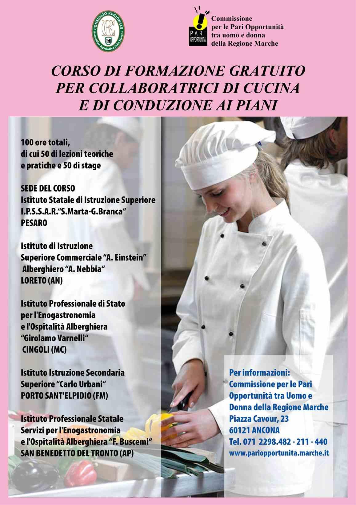 Corso Propedeutico Turismo e Cucina Over 35 Region