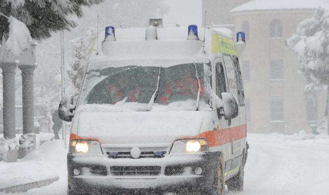 Ambulanza Innevata