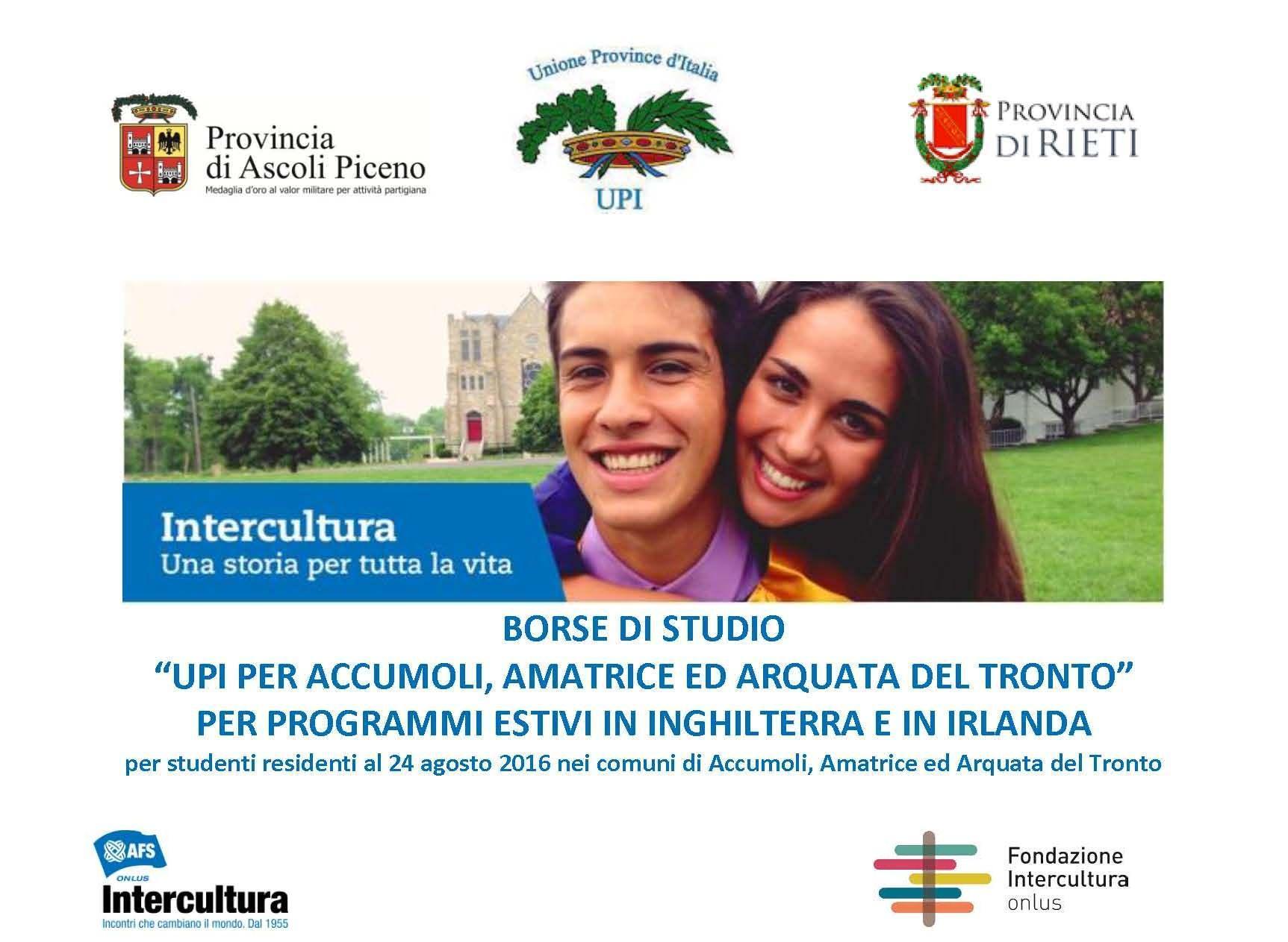 Borse di Studio Upi Arquata del Tronto