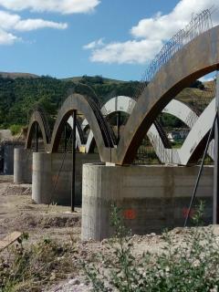 Impalcato in ferro - Ponte di Rubbianello