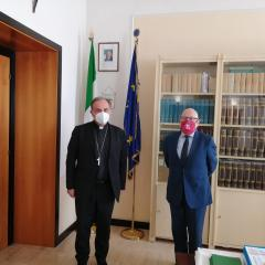 Il Pres. Fabiani e il Vescovo Pompili