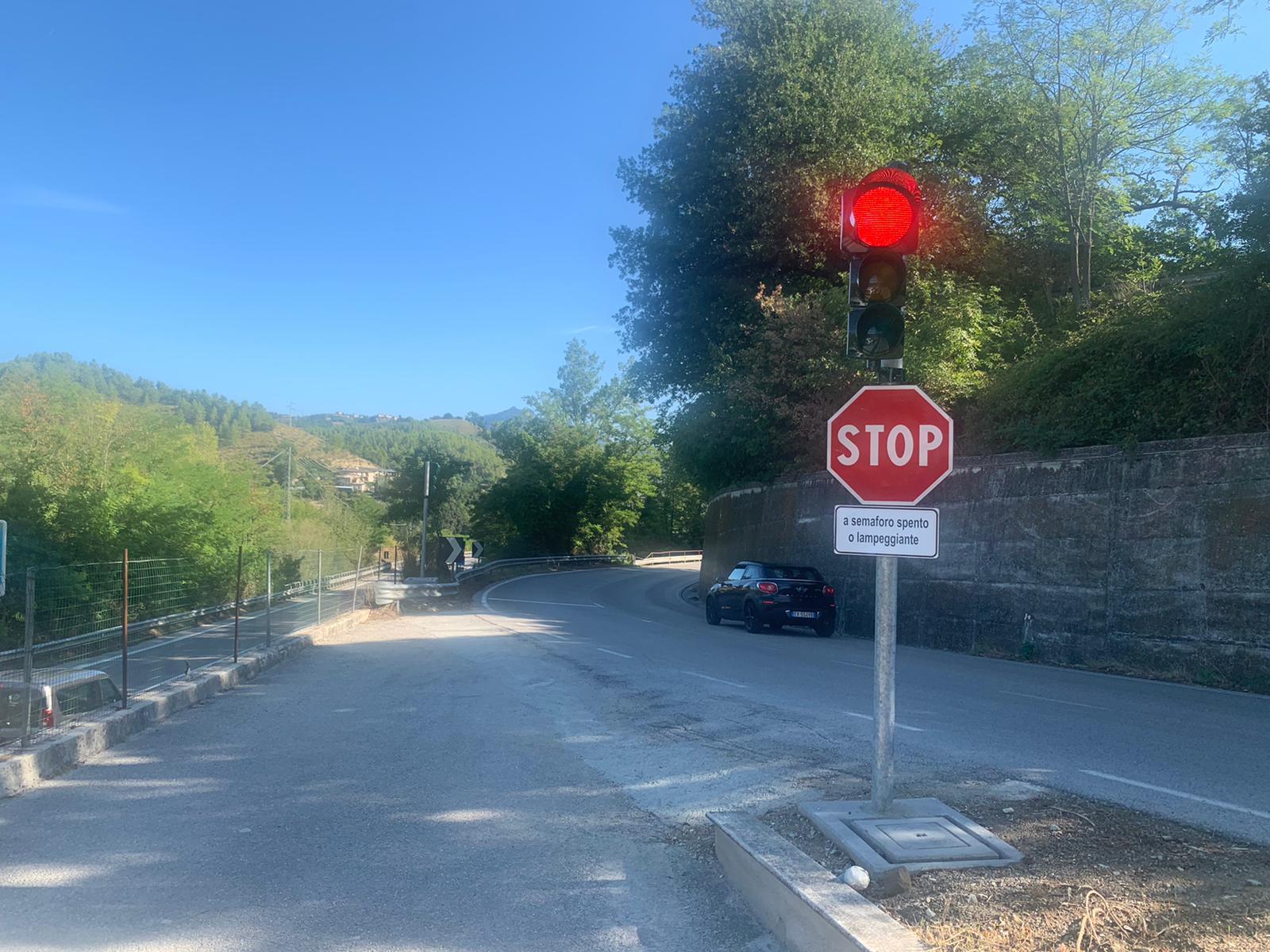 S.P. 226 Mozzano - Impianto semaforico direzione Ascoli