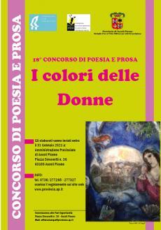 Concorso di Poesia e Prosa I Colori delle Donne - 18° edizione - Regolamento per partecipare al Concorso